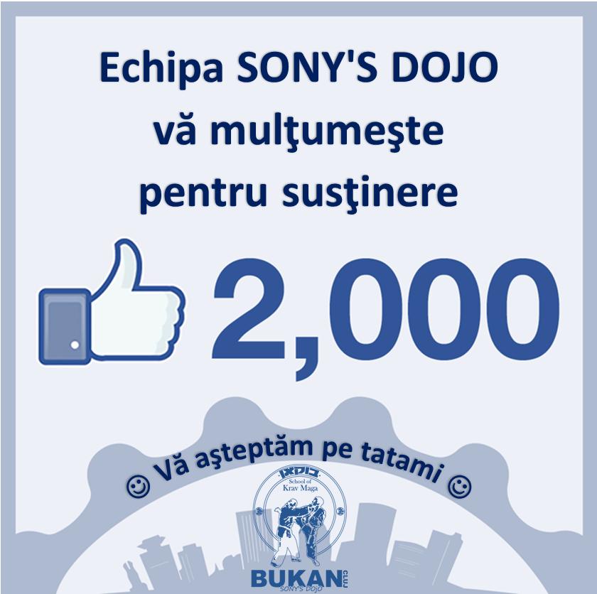 2000 de likes Facebook Sony's Dojo Bukan Cluj